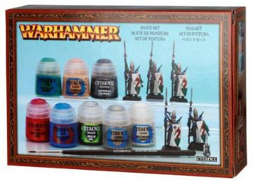 Games Workshop Warhammer Paint Set  With 5 Plastic High Elf Lothern Sea Guard 60-10